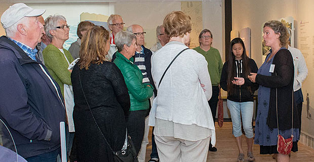 An image of a guided tour of the Bohuslän Museum